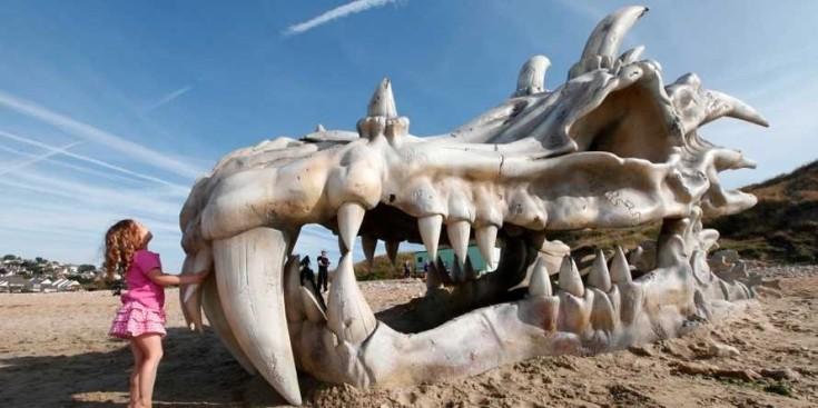 Skull of the dragon in Jurassic
